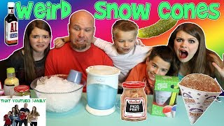 Mixed up Snow Cone Challenge / That YouTub3 Family
