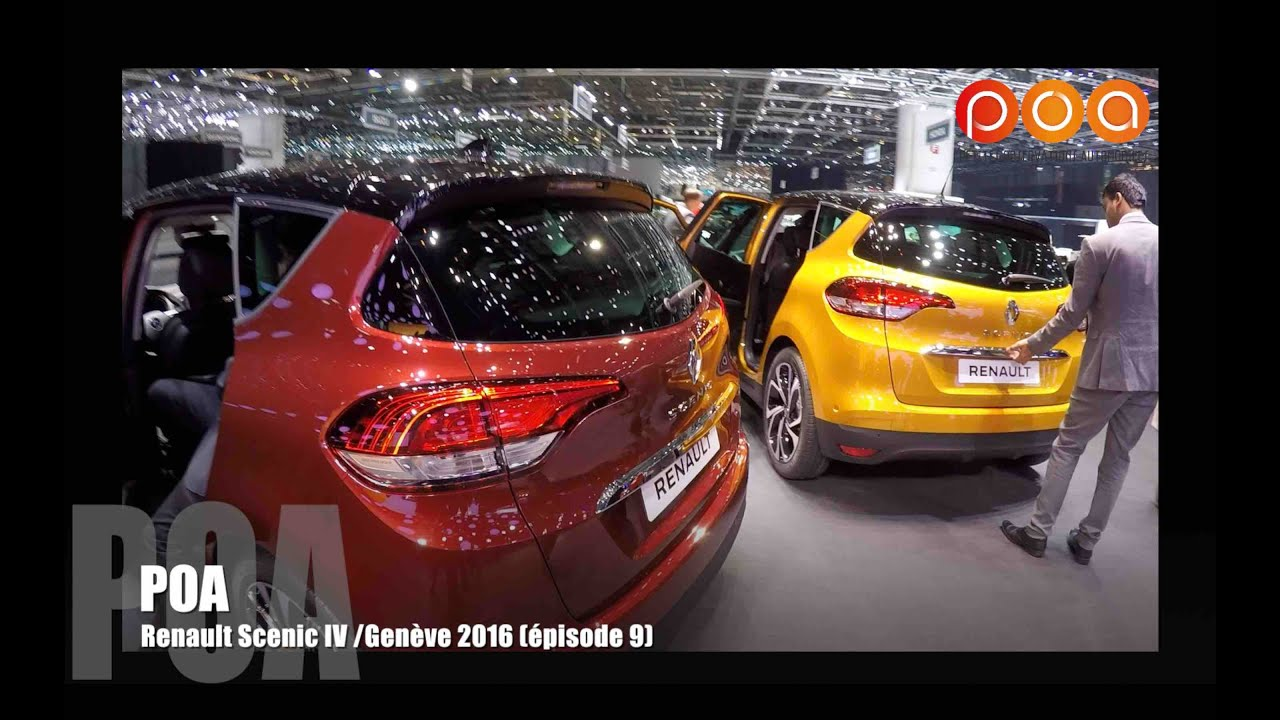 nouveau renault scenic 4 2016 salon de gen ve 2016 9 20 youtube. Black Bedroom Furniture Sets. Home Design Ideas