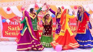 girl bhangra by student of satkartar international senior secondary school bholath.