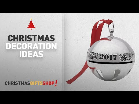 Top 2017 Christmas Decorations: Wallace 2017 Silver Plated Sleigh Bell Ornament, 47th Edition