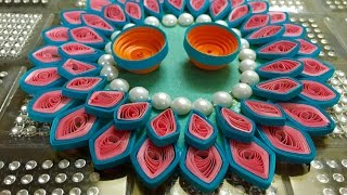 Quilled Rakhi Thali Quilling Platter Out of Waste CD #11