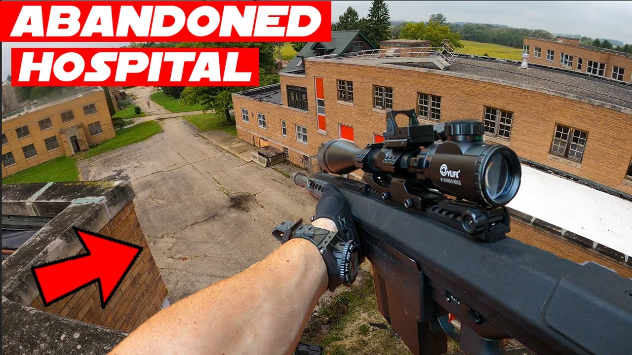 Airsoft M107 HPA Sniper + MP7 AEG Abandoned Hospital Gameplay!