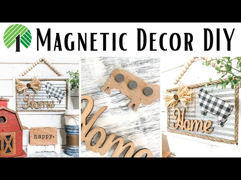 Dollar Tree DIY Farmhouse Magnetic Decor