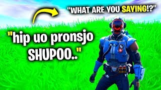 Speaking A Fake Language in Fortnite