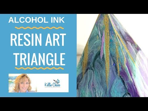 Alcohol Ink Art Resin Pyramid Petri Triangle Silicone Mold Tips and Tricks