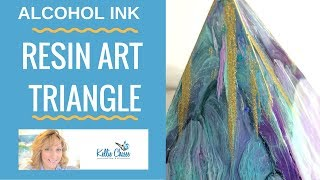 Alcohol Ink Art Resin Pyramid Petri Triangle Tips and Tricks