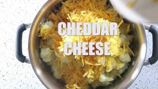 spicy crockpot cauliflower mac & cheese
