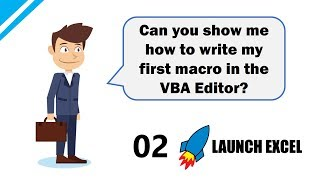 Excel Macros & VBA: 2 Write your first Macro in Excel VBA using the VBA Editor