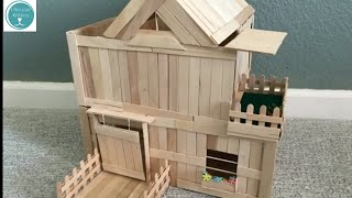 ⌂ DIY Kitten Mansion With Balcony & Swing Door ⌂