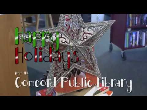 Happy Holidays from the Concord Public Library!
