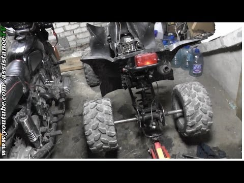 Квадроцикл / Разборка задней оси на квадроцикле и замена подшипников оси