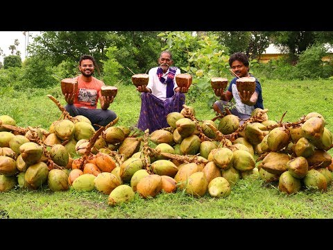 Healthy Coconut Milk Shake | Amazing Fresh Coconut Milk Shake By Grandpa