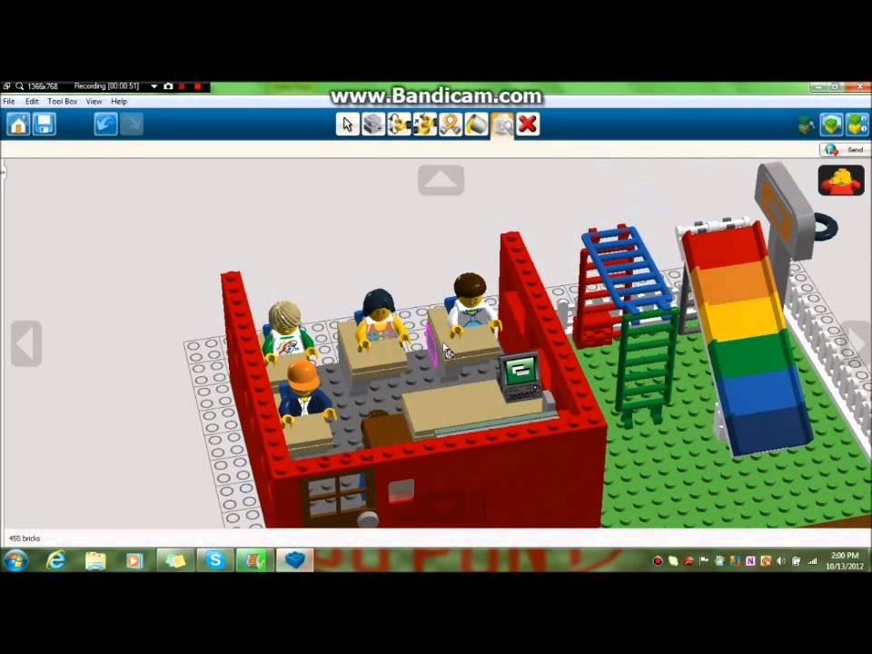 lego digital designer creations ep 2 school youtube. Black Bedroom Furniture Sets. Home Design Ideas