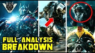 Transformers: The Last Knight Trailer #4 Analysis Breakdown - Hot Rod VS Megatron? Barricade Dies?