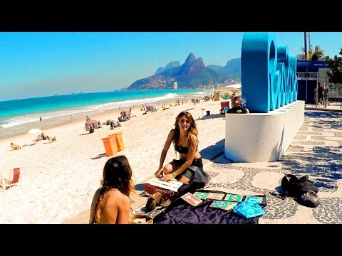 Ipanema Beach. Enjoyable afternoon walking. Rio de Janeiro - State of Brazil