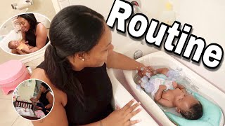 NEWBORN TWINS NIGHT TIME ROUTINE!💜💙  YOUNGEST OF 4! COLLAB W. STRONGMOMMY CHRISSY