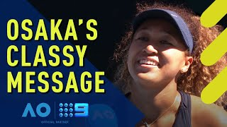 Naomi Osaka shows her grace after defeating Serena Williams | Wide World of Sports
