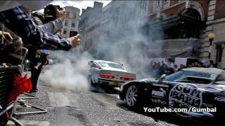 Ford Shelby Mustang GT500 Eleanor BURNOUT!! LOUD REVS!