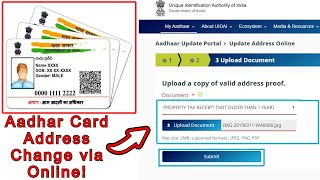 💥2021   Aadhar Card Update/Correction in Address    How to Update Address in Aadhar Card Online