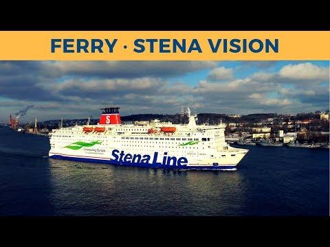 Departure of ferry STENA VISION in Gdynia (Stena Line)