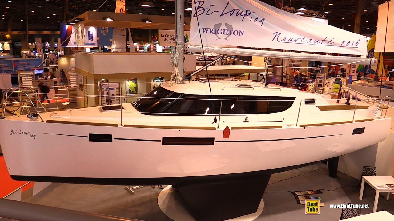 Salon Nautique à Paris 2016 Wrighton Bi Loup 109 Sailing Yacht Deck And