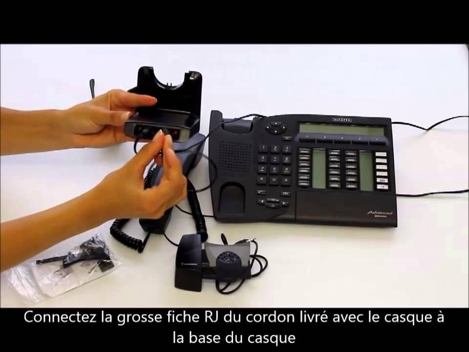 Tutoriel Branche Casque Plantronics Cs520 Sur Téléphone Alcatel