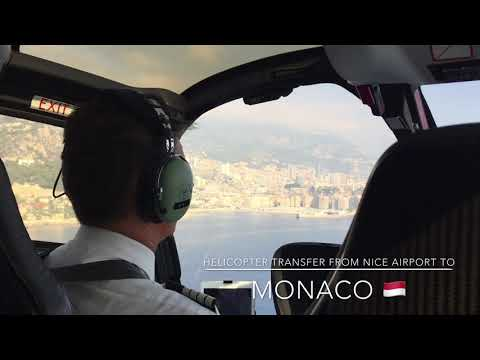 Helicopter transfer from Nice Airport to Monaco