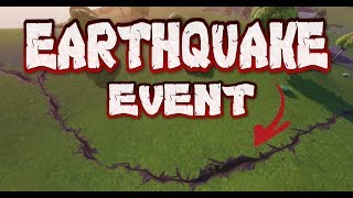 FORTNITE - EARTHQUAKE EVENT CRACKING OPEN MAP - COUNTDOWN AND LOCATIONS - 15TH CRACK HAPPENING NOW