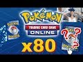 Opening 80+ Digital Pokemon Trading Card Game Online Packs