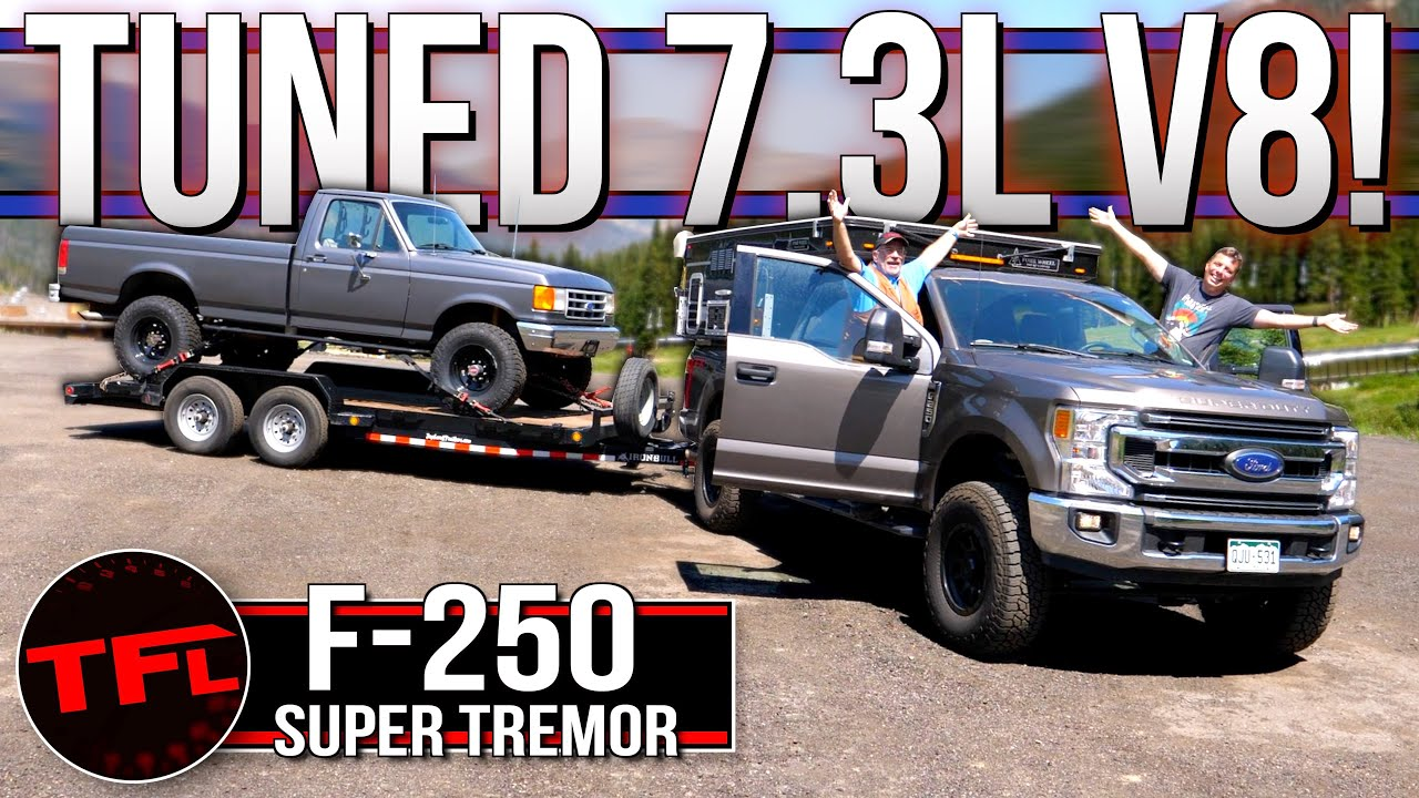 Stock vs Tuned Ford F-250 Super Duty - I Tow 10K LBS Up The World's Toughest Towing Test Twice!