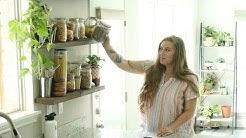Zero Waste Kitchen Tour   Pantry & Fridge