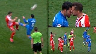 طرد لاعب مرتين في مباراة بدوري الدرجة الثانية الإسباني