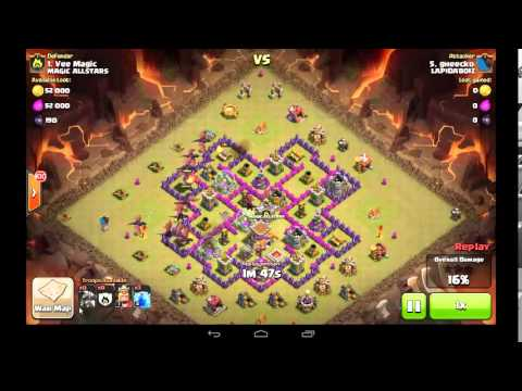 COC LvL2 Drag vs LvL6 AD TH8: My attack strategy for lvl2 drags vs TH8 lvl6 Air Defense.