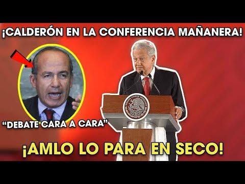 AMLO Para en Seco a Felipe Calderón tras Pedirle Debatir en Conferencia ¡Lo dejó callado!