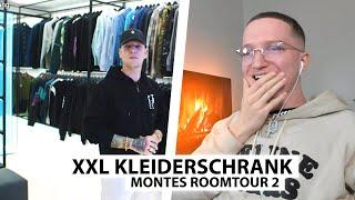 Justin reagiert auf Montes XXL begehbaren Kleiderschrank.. | Reaktion