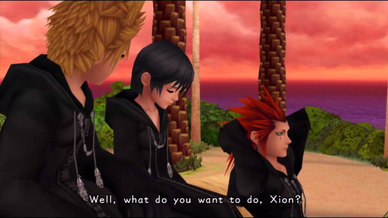 kh hd remix roxas xion and axel are best friends kh