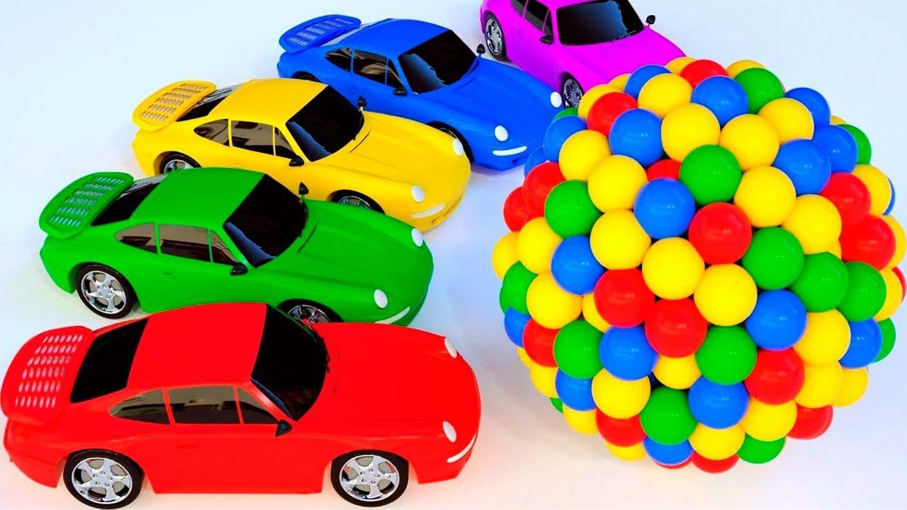 Nauka Kolorów Po Polsku Uczymy Kolory Samochody Auta Bajka Dla