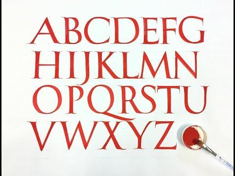 Roman Capitals Alphabet Calligraphy