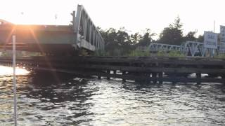 RARE SWING BRIDGE IN OPERATION