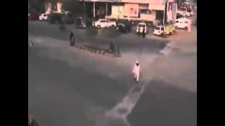 מצלמות אבטחה: פיגוע דריסה בעזה