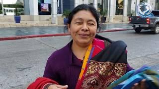 Comprando cobijas chapinas en Guatemala pata de chucho