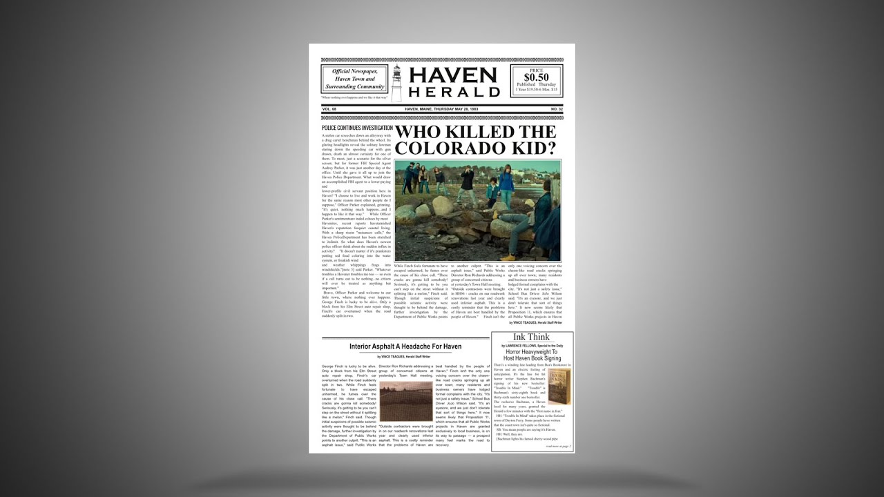 scribus newspaper template - learn scribus by creating the haven herald newspaper part