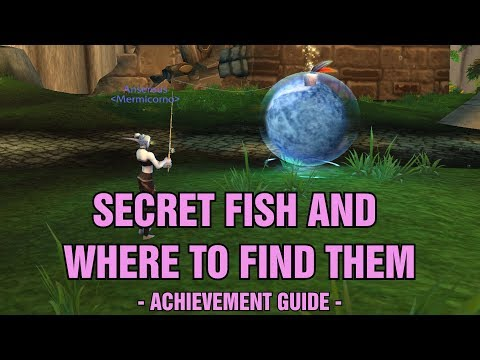 WoW BfA 8.2 Secret Fish And Where To Find Them Achievement For The Hyper-compressed Ocean Toy