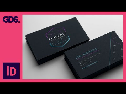 Create a business card in Adobe InDesign Ep7/15 [Multimedia design course - Print]