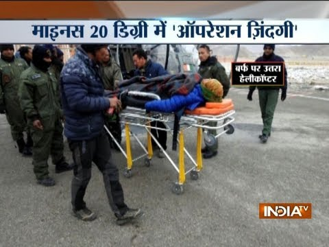 Air Force rescues pregnant woman from a remote village in Ladakh