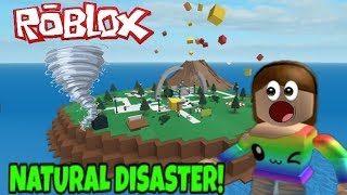 Roblox Natural Disaster! Playing Roblox With A Fan