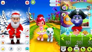 My Talking Tom Vs Santa Claus Vs Strawberry Shortcake Berry Rush || Great Makeover Gameplay HD