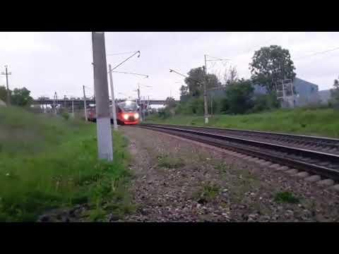 Последняя горэлка. Электропоезд ЭП3Д-0034 сообщением Тихоокеанская-Владивосток с приветом