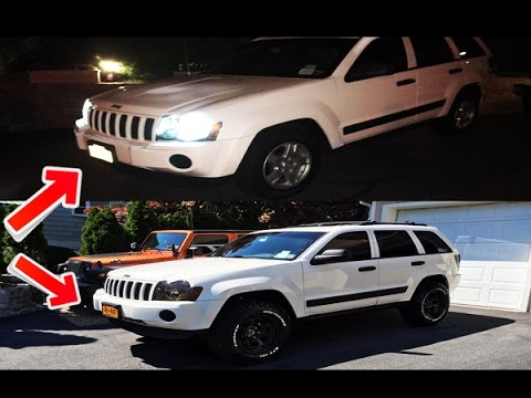 "2007 Jeep Grand Cherokee Laredo >> 2005 Jeep Grand Cherokee Laredo - Rough Country 2"" Lift & Cooper STT 32"" Tires (Before & After ..."