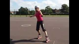 How to do a backwards crossover video tutorial on inline skates and rollerbaldes